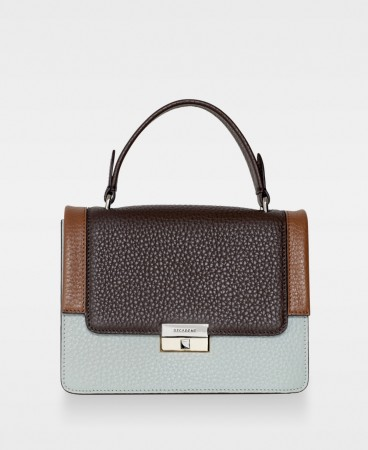 DECADENT Mona Small Top-handle, Mintgreen/mocha/cognac