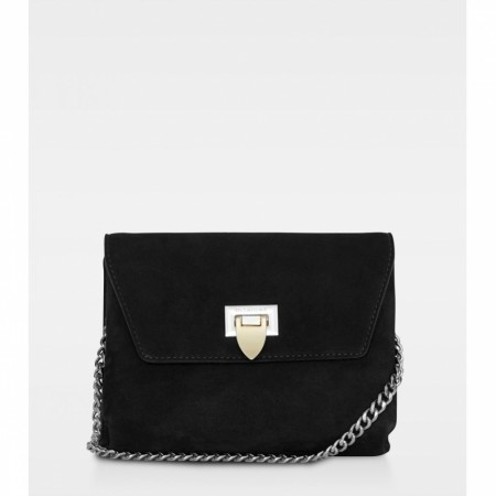 DECADENT Cleva Small Pouch, Suede Black