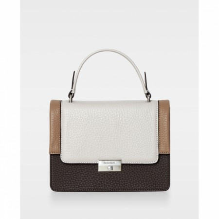 DECADENT Mona Small Top-handle, mocha/oat/camel