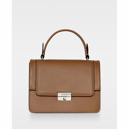 DECADENT Mona Small Top-handle, Nappa Camel