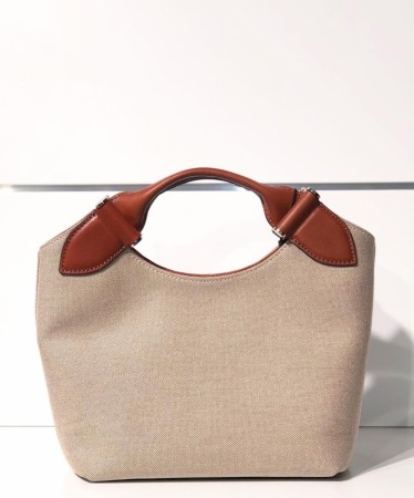 DECADENT Mille Small Canvas Tote, Cognac