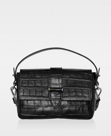 DECADENT Haley Handbag, Croco Black
