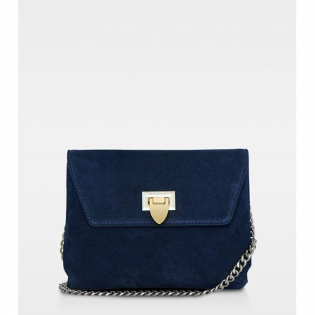 DECADENT Cleva Small Pouch, Suede Navy