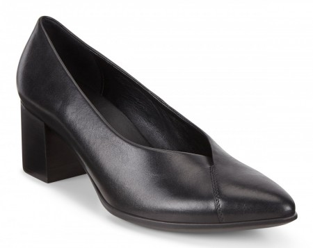 ECCO Shape 45 Pointy Block Pumps, Sort