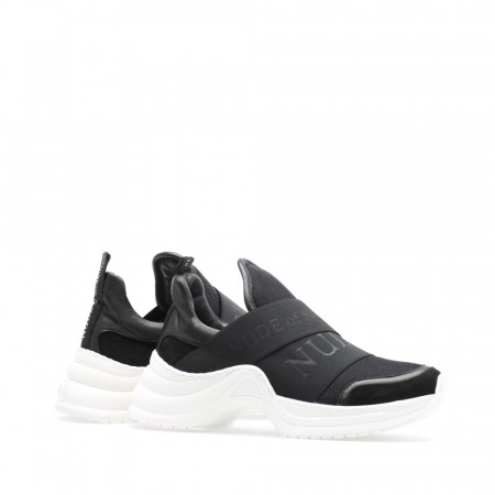 NUDE Joy Sneaker Slip-on, Mix/nero