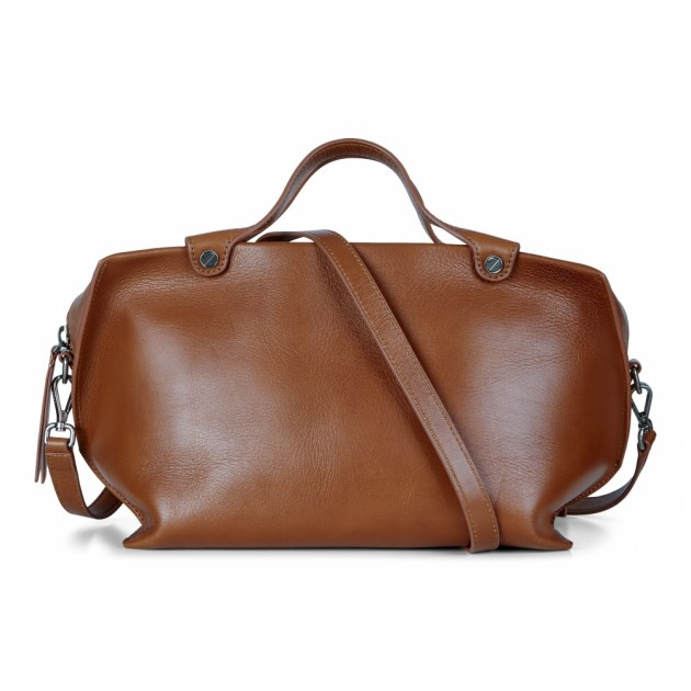 ECCO Sculptured Handbag, Brun